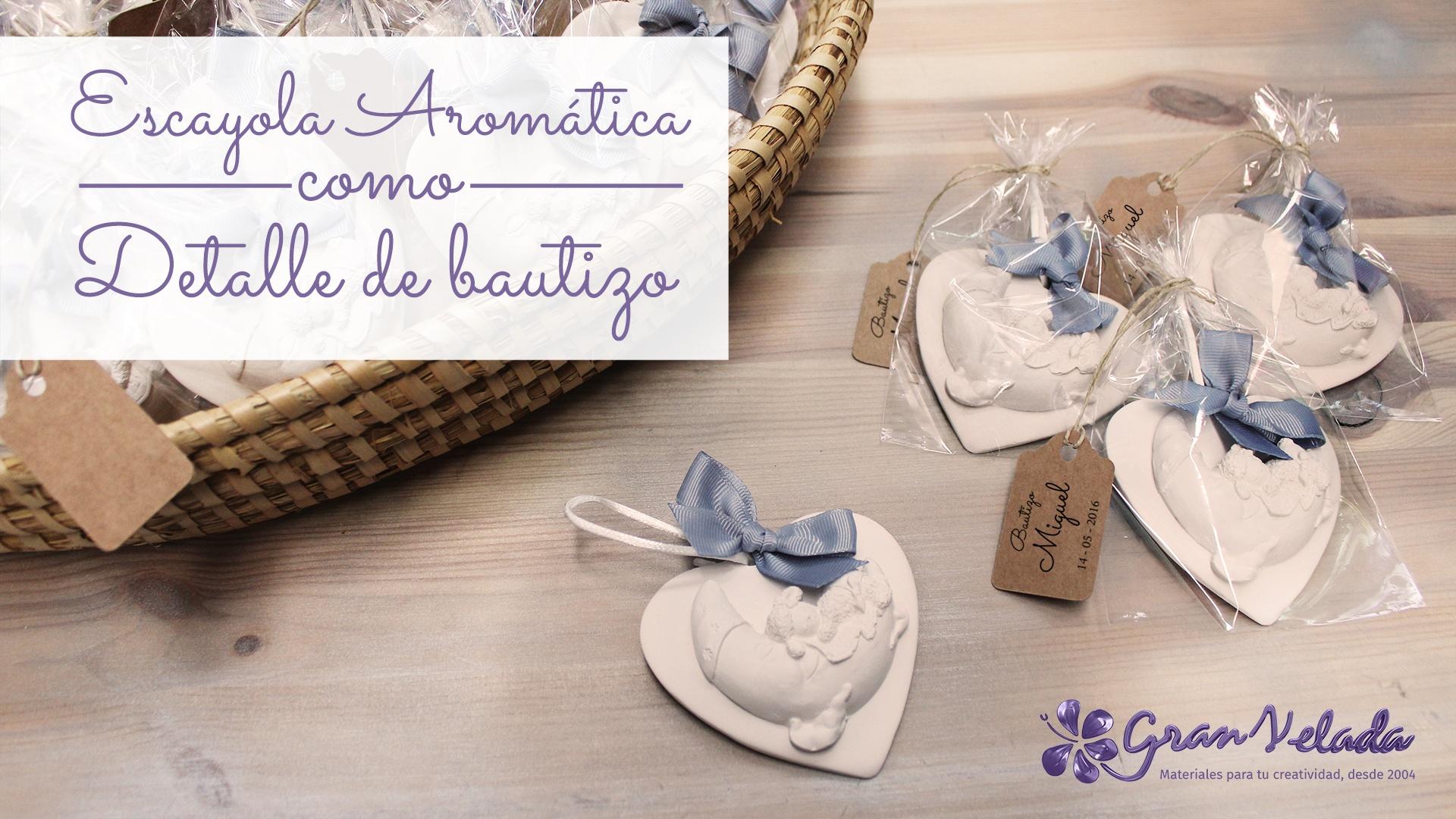 Escayola arom tica como detalle de bautizo - Detalles de ganchillo para regalar ...