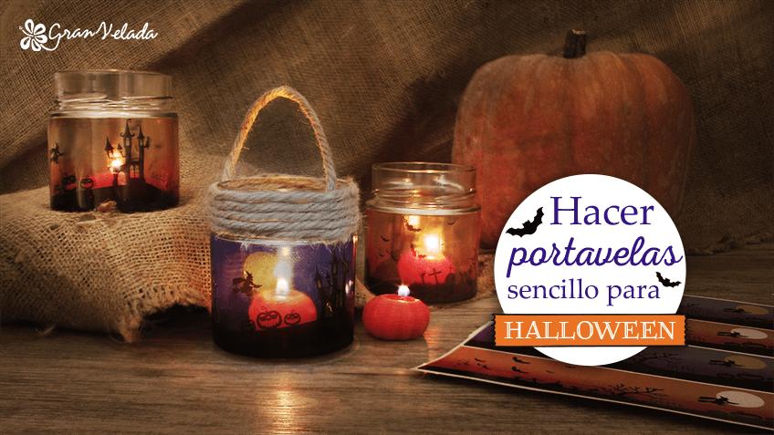Hacer portavelas sencillo para halloween